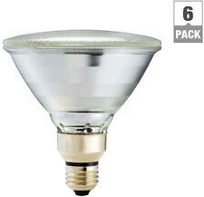 6 pack Dimmable Flood Light Bulb Indoor/Outdoor 90 Watt Equivalent Halogen PAR38
