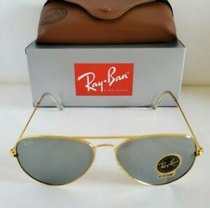Ray-Ban Aviator Gold Metal Frame / Mirrored Classic G-15 Lens