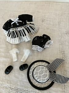 """Darling New Outfit For 8"""" Alexander Wendy, Ginny, Music Theme Blk & White WShoes"""