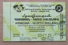 Northern Ireland Football International Fixture Tickets & Stubs