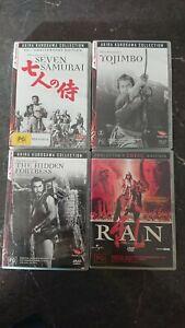 Akira Kurosawa DVD Bundle (4dvds) EASTERN EYE - Seven Samurai - Ran - Yojimbo -