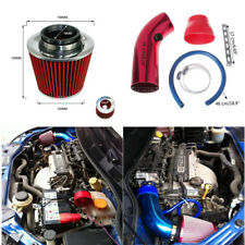 "Aluminum Car Cold Air Intake Pipe 3"" & Filter w/Clamp+Accessories Red Universal"