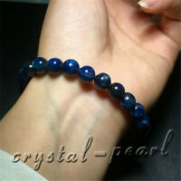 7.5 mm Natural Blue Kyanite Crystal Cat Eye Beads Bracelet AAA