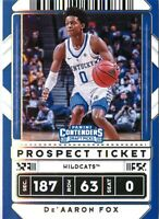 De'Aaron Fox 2020-21 Contenders Draft Picks Prospect Ticket Variation Card #22