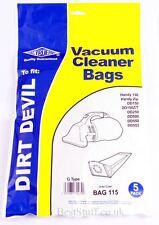 Electruepart BAG115 Confezione da 5 Sacchetti per aspirapolvere Dirt Devil