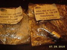 8GH 002 473-151 GLUEHL YL 12V 5W (HALOGEN) BULBS MADE IN GERMANY