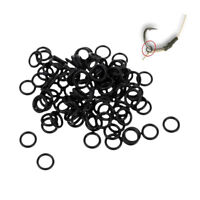 100pcs Fishing Rig Ring Connector Ring O Shape Rings Fishing Line Connector