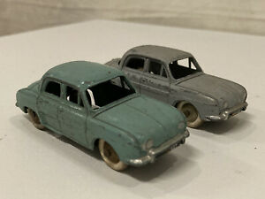 Vintage Toys 2x Eria RE 32 Dalphine Renault Grey & Blue Diecast Matchbox Cars (1