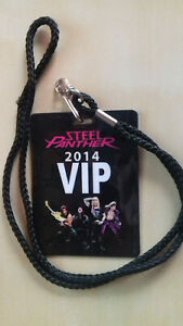STEEL PANTHER VIP 2014 Laminate Official Fanther Pass Satchel Balls 10cm x 7,5cm