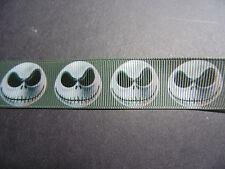 Jack Skeleton Grosgrain Ribbon 2.2cm  x 1 Metre  Sewing/Halloween/Crafts/Cake