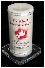 Confirmation Candle  Boy or girl personalised gift #8