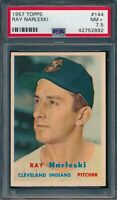 1957 Topps Set Break # 144 Ray Narleski PSA 7.5 *OBGcards*
