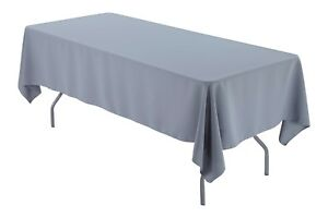 "60"" x 84"" Rectangular Tablecloth Seamless For Wedding Restaurant Banquet Party"