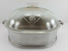 Vintage Guardian Service Large Oval Roaster w/ Glass Dome Lid