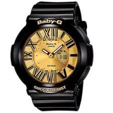 Casio Baby-G BGA-160-1B Black Gold Neon Illuminator Analog Digital Womens Watch