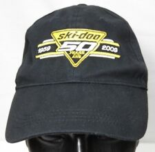 Ski Doo Snowmobiles 50 Year Anniversary 1959 to 2009 Baseball Hat Black