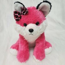 "13"" Aurora Girlz Nation Fox Hot Pink White Plush Stuffed Animal Toy  B225"