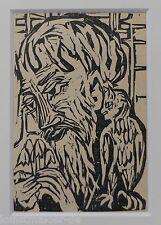 KIRCHNER Ernst Ludwig: Original Holzschnitt Dube 814 Briggel mit Eule