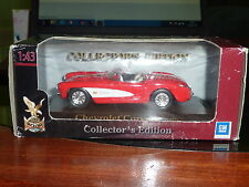 Yat Ming Collectors Edition 1957 CHEVROLET CORVETTE Red/white. 1:43 BOXED