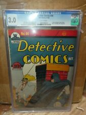 DC COMICS DETECTIVE 44 CGC 3.0 Batman daisy rifle Sonic 1940 cbcs Golden age