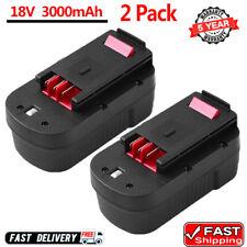 2Pack For Black & Decker 18V Ni-MH 3000mAh Battery 244760-00 Firestorm  FSB18