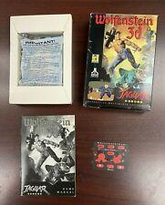 Wolfenstein 3D Atari Jaguar Game Manual Box and Overlay