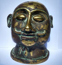 Ancien buste de Shiva en bronze Maharashtra Inde 17/18e