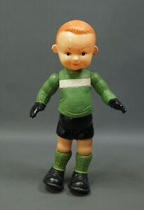 1960 Russian USSR Celluloid Doll Figurine Toy Soccer Player Goalkeeper Football