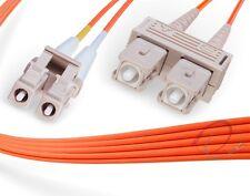 OM1 LC-SC 62.5/125 Multimode Duplex Fiber Cable - [ 1 Meter ]