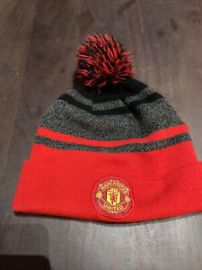 Nike Manchester United Mens Red Knit Beanie Hat
