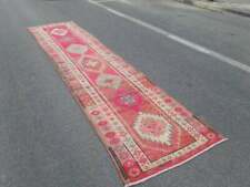 Runner rug, Vintage, Turkish, Wool, 3'1x12'2, item no : 17