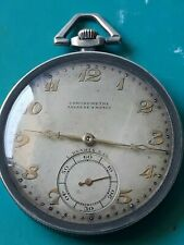 Tavann's chronometer pocket watch L.kramer&co silver 900 frame as coins Rare