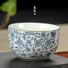 2pcs/lot 110ml Blue and white porcelain cup Japanese style teacup Kung Fu Teaset