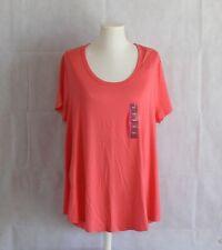 Merona Womens XXL T-shirt Orange Top Scoop Neck Short Sleeve