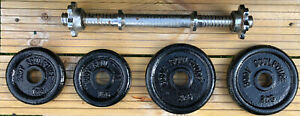 Body Sculpture Cast Iron Weight Plates 2 x 2KG, 2 x 1KG With Barbell Bar.