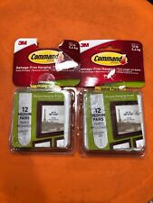 3M Command Medium Picture Hanging Strips Pairs White -(2 Packs -12 Each