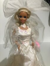 Barbie 1989 Wedding Fantasy Bride Doll  With Stand