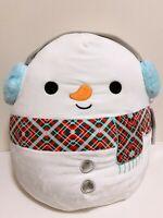 "Kellytoy Squishmallow 2020 Christmas Manny the Snowman 16"" Plush Doll Toy"