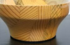 Hand Made Wooden BOWL Small Beautiful Wood Grain Pine Keys Nuts Mantle Decor