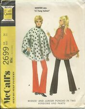 M 2699 sewing pattern 70's PONCHO Cape in 2 versions PANTS sew retro FUN size 14