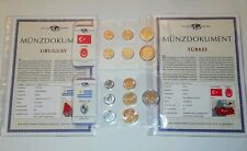 KMS Kursmünzensatz URUGUAI + TÜRKEI das Geld der Welt mit Münzdokumenten OVP