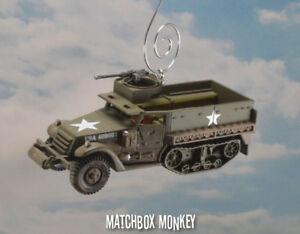 USA M3 Semicingolato Vietnam Coreano US Army Natale Ornamento 1/2 Pista War Per