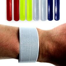 HIGH VIS VIZ REFLECTIVE SNAP BANDS SURVIVAL RUNNING WRIST BANDS CYCLING