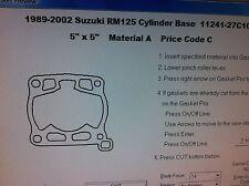 Suzuki RM125  Cylinder Base Gasket  1989 1990 1991 1992 1993 1993 1994 1995-2002