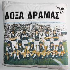ULTRA RARE VINTAGE 80'S DOXA DRAMAS GREEK FOOTBALL TEAM PILLOW GREECE NEW NOS !