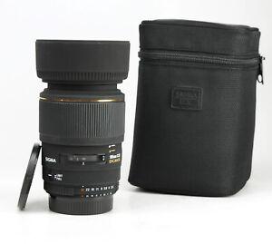 Sigma EX 105mm F2.8 DG Macro Prime Lens For Nikon + Front & Rear Caps & Hood EXC