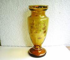 Bildschöne, große Kristall - Glas - Vase Bohemia...Böhmen