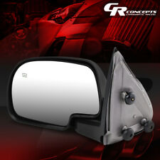 LEFT POWERED SIDE VIEW MIRROR+HEATED REPLACES FOR 99-02 SILVERADO/SIERRA CHROME