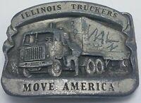 Vintage Bergamot Brass Works Belt Buckle - Illinois Truckers Move America