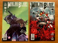 WAILING BLADE #2  Joe Mulvey Covers A + B Variant Set COMIXTRIBE 2019 NM